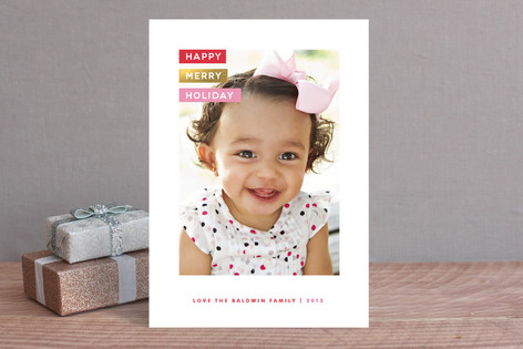 Labeled Holiday Photo Cards