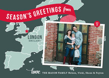 Holiday Map - Europe West Holiday Photo Cards
