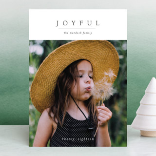 Minimal Joy Holiday Photo Cards