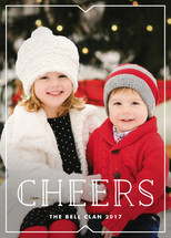 Cheers Triangle Holiday Photo Cards