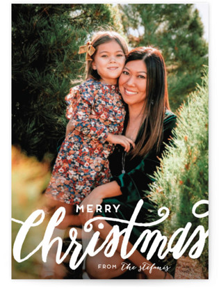 Scripted Christmas Holiday Photo Cards