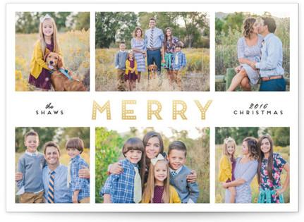 Merry Glow Holiday Photo Cards