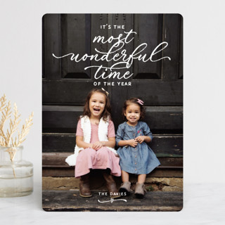 WON-DER-FUL Holiday Photo Cards