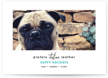 Italian Leather Holiday Photo Cards