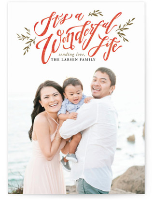 A Beautiful and Wonderful Life Holiday Photo Cards