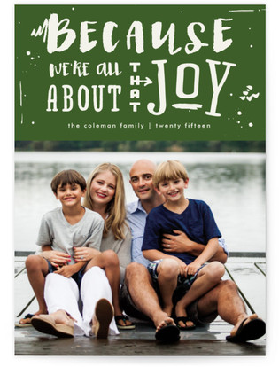 All About that Joy Holiday Photo Cards