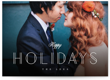 Chiseled Holiday Photo Cards