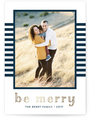Merrily Striped Holiday Photo Cards
