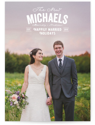 Happily Married Holidays Holiday Photo Cards