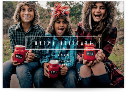 Modern Revelry Holiday Photo Cards