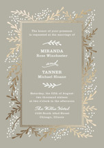 Gilded Branches Foil-Pressed Wedding Invitation Petite Cards