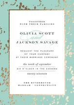 Plunge Foil-Pressed Wedding Invitation Petite Cards