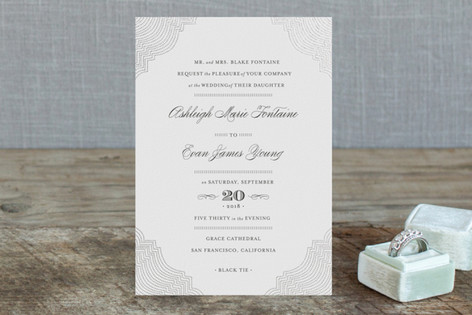 Splendorous Foil-Pressed Wedding Invitation Petite Cards