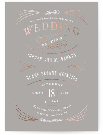 Arched wedding Foil-Pressed Wedding Invitations