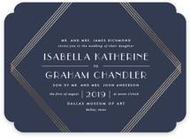Gilt Foil-Pressed Wedding Invitations