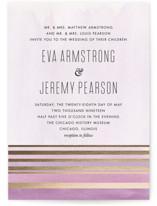 Golden Sunset Foil-Pressed Wedding Invitations