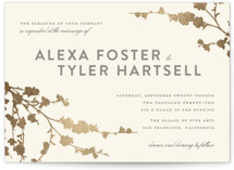 In Bloom Foil-Pressed Wedding Invitations