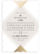 Modern Angle Foil-Pressed Wedding Invitations