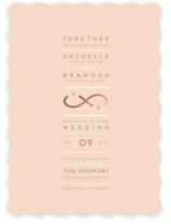 Monogrammed Infinity Foil-Pressed Wedding Invitations