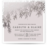 Olive Branches Foil-Pressed Wedding Invitations