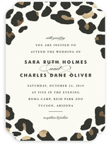 On The Wild Side Foil-Pressed Wedding Invitations