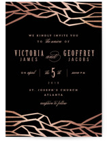 Organic Foil-Pressed Wedding Invitations