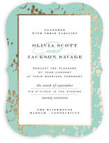 Plunge Foil-Pressed Wedding Invitations