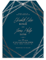 Starcrossed Foil-Pressed Wedding Invitations
