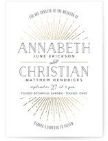 Vintage Radiance Foil-Pressed Wedding Invitations