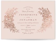 Engraved Flowers Foil-Pressed Wedding Invitations