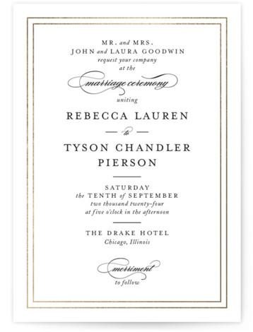 Eloquence Foil-Pressed Wedding Invitations