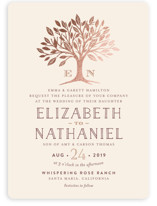Enchanted Foil-Pressed Wedding Invitations