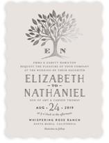 Enchanted Foil-Pressed Wedding Invitations