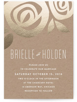 Flora Grande Foil-Pressed Wedding Invitations