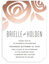 Flora Grande Foil-Pressed Wedding Invitations