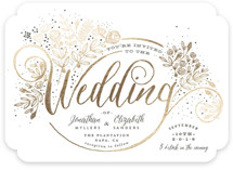 The Wedding Bouquet Foil-Pressed Wedding Invitations