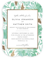 Watercolor Delight Foil-Pressed Wedding Invitations