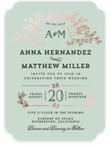 Wedding Bouquet Foil-Pressed Wedding Invitations