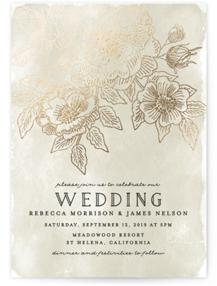 Wedding Etching Foil-Pressed Wedding Invitations