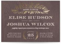 Woodland Romance Foil-Pressed Wedding Invitations
