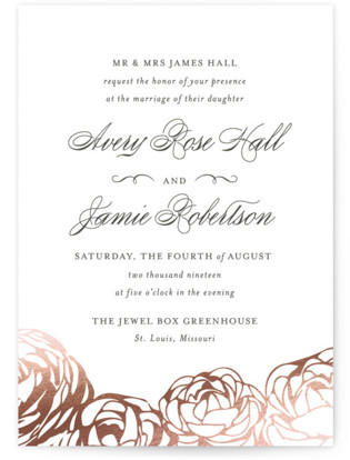 Adoration Foil-Pressed Wedding Invitations