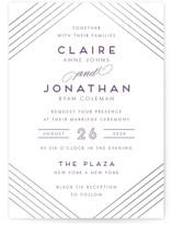 A Golden Age Foil-Pressed Wedding Invitations