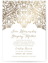 Black Tie Wedding Foil-Pressed Wedding Invitations