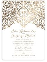 Black Tie Wedding Foil-Pressed Wedding Invitations
