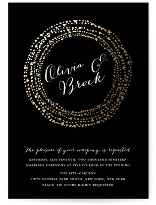 Black-Tie Foil-Pressed Wedding Invitations
