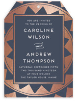 Deco Chevron Foil-Pressed Wedding Invitations