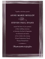 Evening Elegance Foil-Pressed Wedding Invitations