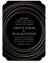 Circled Foil-Pressed Wedding Invitations