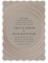 Circled Foil-Pressed Wedding Invitations