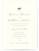 The Crown Foil-Pressed Wedding Invitations